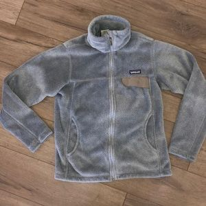 Patagonia Women's Full Zip Gray Soft Plush Jacket